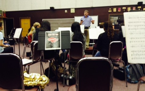 AHS Band practices for competition under the direction of Symphonic Band Director, Jay Cloar.