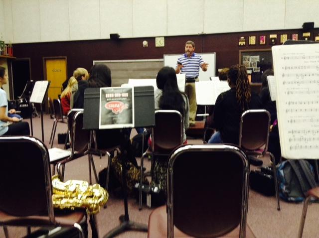 AHS+Band+practices+for+competition+under+the+direction+of+Symphonic+Band+Director%2C+Jay+Cloar.