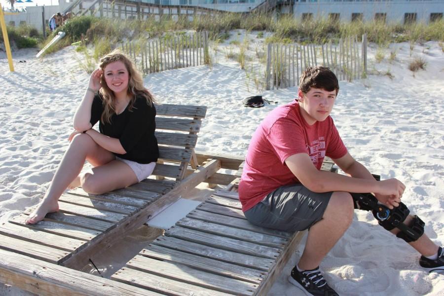 Bailey and Braden Henderson enjoying the in Pensacola Beach, Fla.