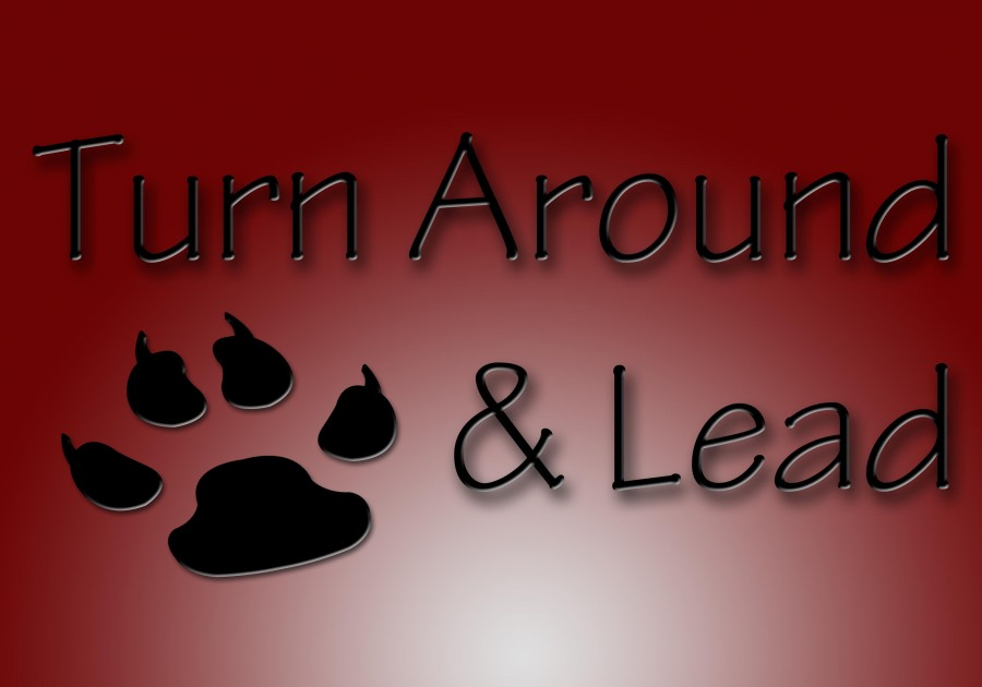 Turn around and lead