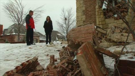 Damage From Earthquake In Edmond Okla.