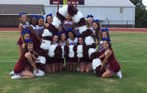 AHS Cheerleaders pose at media day in early August 2016.