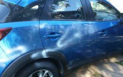 Cooper's car was vandalized with spray paint.  Due to the graphic nature, some photos have been withheld.