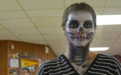 Karsyn Johnson as a Skull