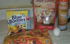 Candy Corn Sugar Cookies Ingrediants