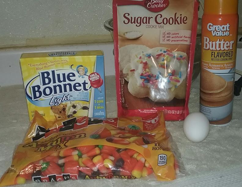 Candy Corn Sugar Cookies Ingrediants