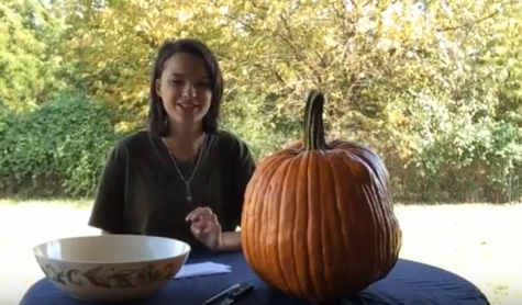 Becky Robnett hosts a pumpkin carving tutorial.