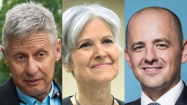 Gary Johnson, Jill Stein, Evan McMullin.
