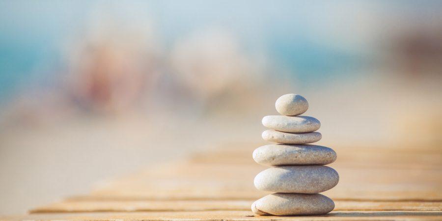 Rocks balancing.