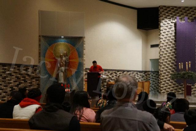 Juan Luis Oseguera reading from the bible