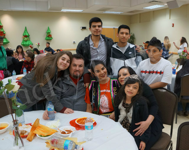 The Oseguera Family enjoying the party.