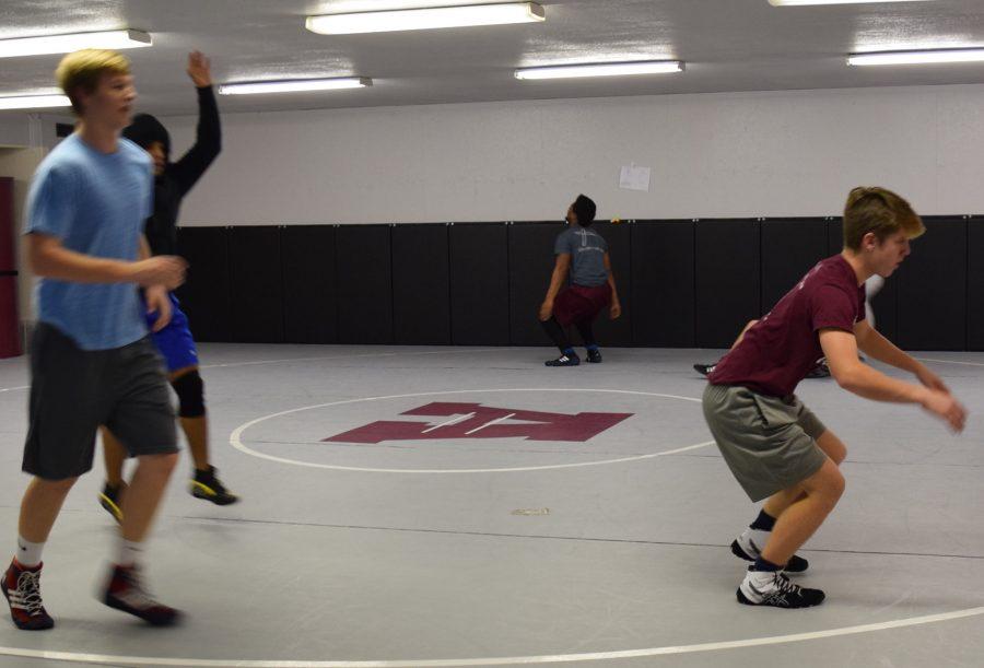 Hunter Wilson (right) preparing for a flip.