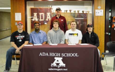 Five Ada Cougar football players will continue their careers at the collegiate level.
