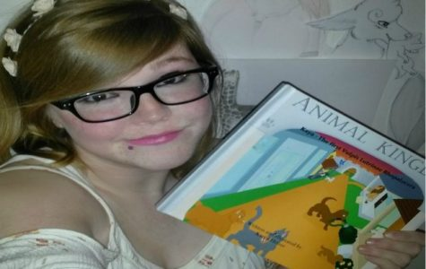 Karen Heizer and her children's book Animal Kingdom.