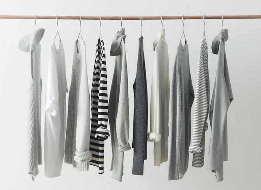 Minimalist wardrobe.