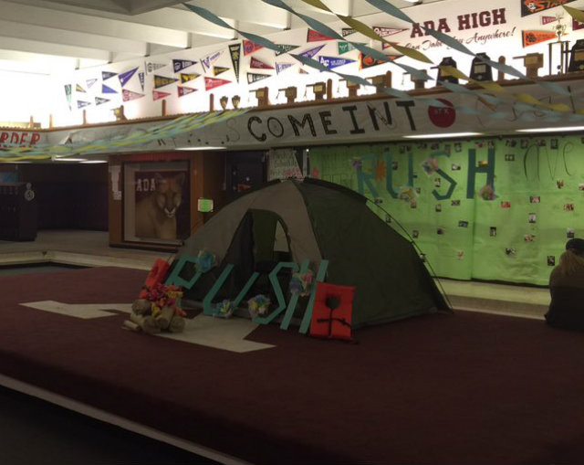 This camp site is to represent Avery's love for camping