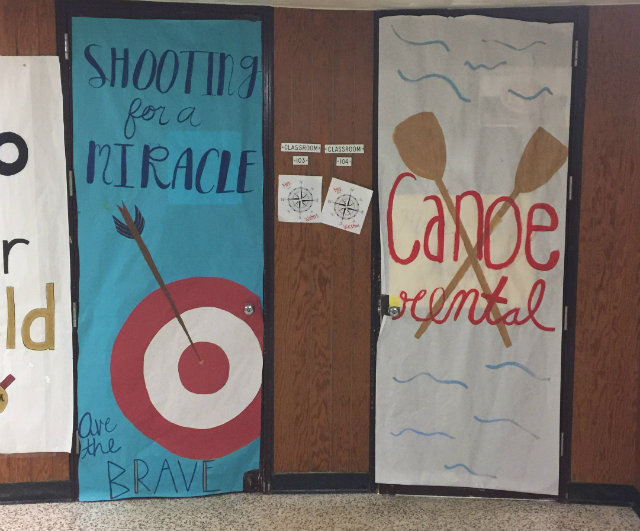 Even the teachers doors got decorated