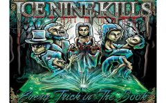 Album cover art depicting the different characters from the stories.