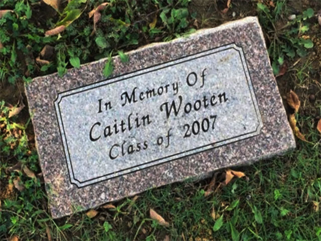 Caitlin Wooten, 16, was a student at Ada High when, on Sept. 23, 2006,  she was abducted at gunpoint on from the school's parking lot. Wooten's mother recently ended her relationship with Jerry Savage (47), who then abducted Wooten. The Ada police later located Wooten's body in a wooded area with a gunshot wound in the back of her head. Savage's body lay nearby with a self-inflicted gunshot wound to the head.