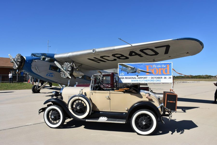 Passengers are transported into a different era as they arrive on the runway to experience flight in a WWII aircraft.