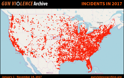 The number of gun related incidents in 2017 from Jan. 1 to Nov. 16.