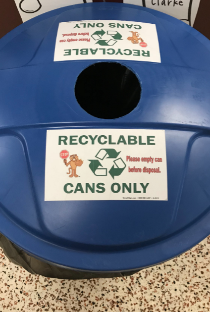 Recycling bucket for can products only