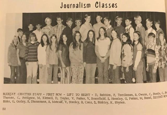 Ada Junior High 1973 Journalism Class
