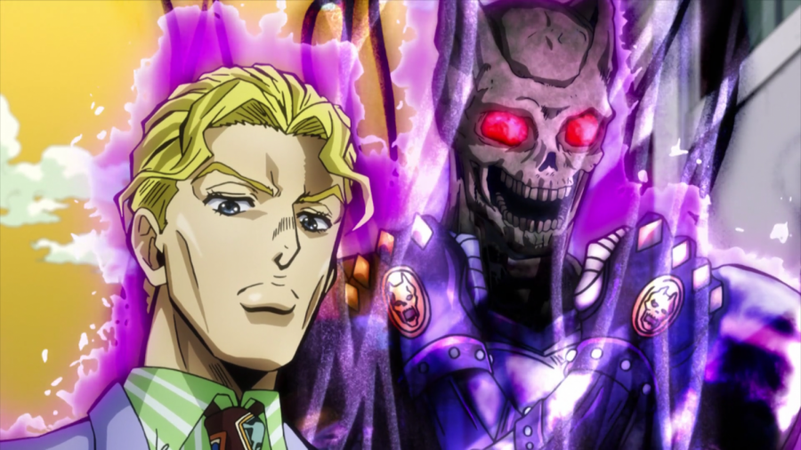 Kira with his Stand, Killer Queen