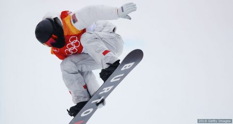 Shaun White of the United States warms up ahead of the Snowboard Men