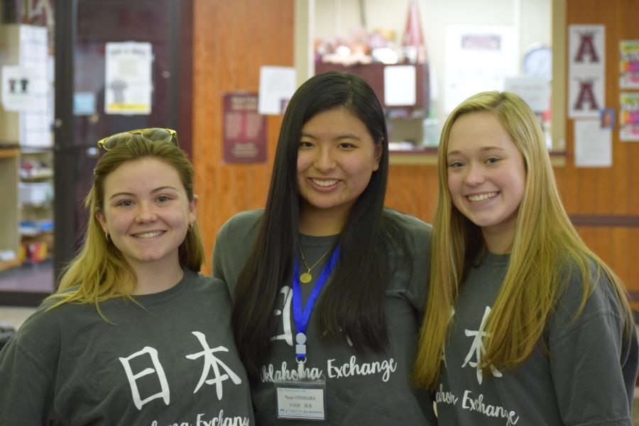Kylie Laxton, Grace Anderson and Yumi Otahara