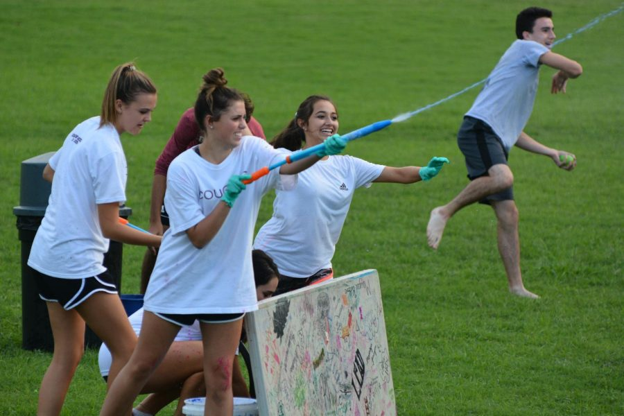Cougars wage war with paint