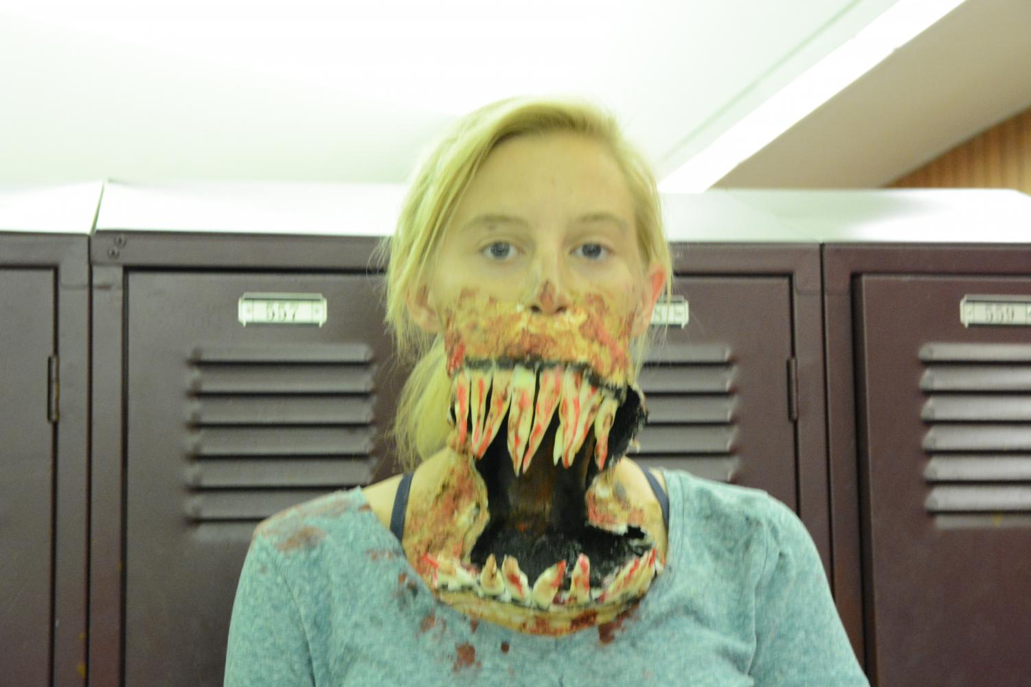 %22My+favorite+thing+I+have+been+for+Halloween+is+this+costume%2C+a+scary+big+mouth+monster.%22+Amanda+Shoreman