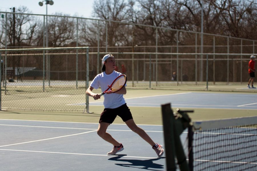 Mens tennis takes 2nd at home