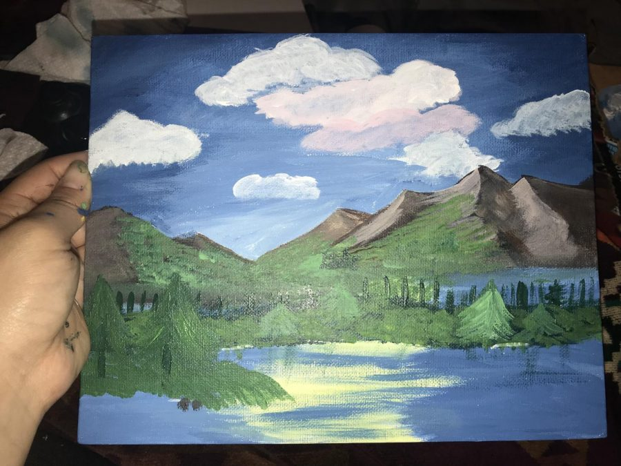 Recreating a Bob Ross Painting Tutorial