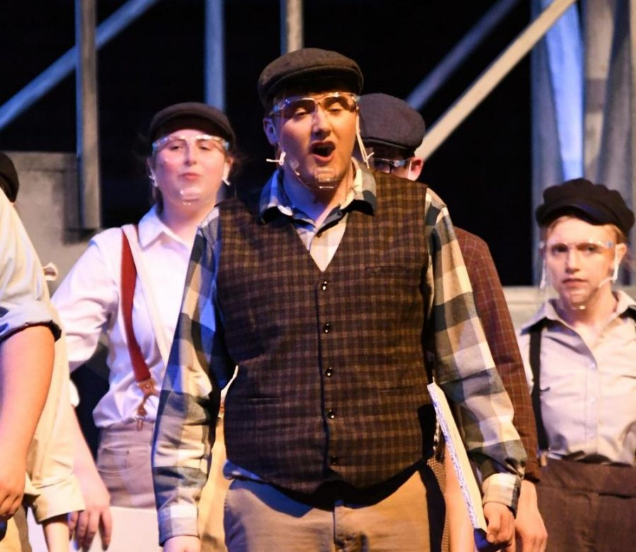 After missing his initial performances, senior Justin Sampson was able to rejoin the cast for the revival performances.